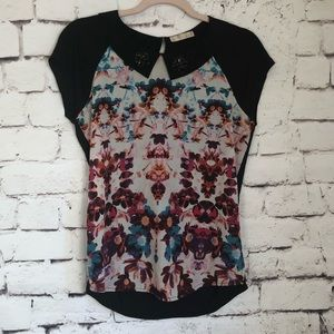 Hinge Floral Jeweled Top from Nordstrom Small